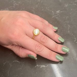 NWT Julie Vos Size 8 Ring - Gold, White